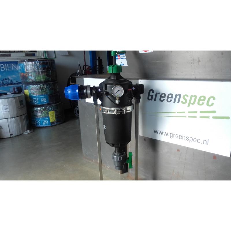 """Filtre F6400 RIVULIS plastique 2"""" 100 microns semi-automatique (40 m3/h filtre propre)"""
