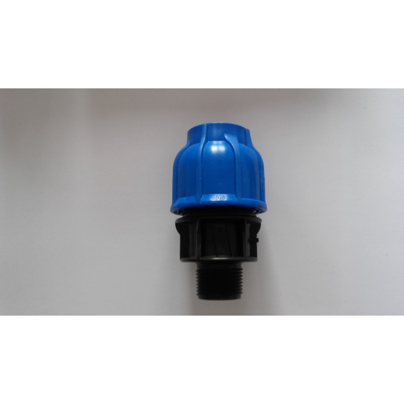 Raccord polypropylène 63*1'1/2 M