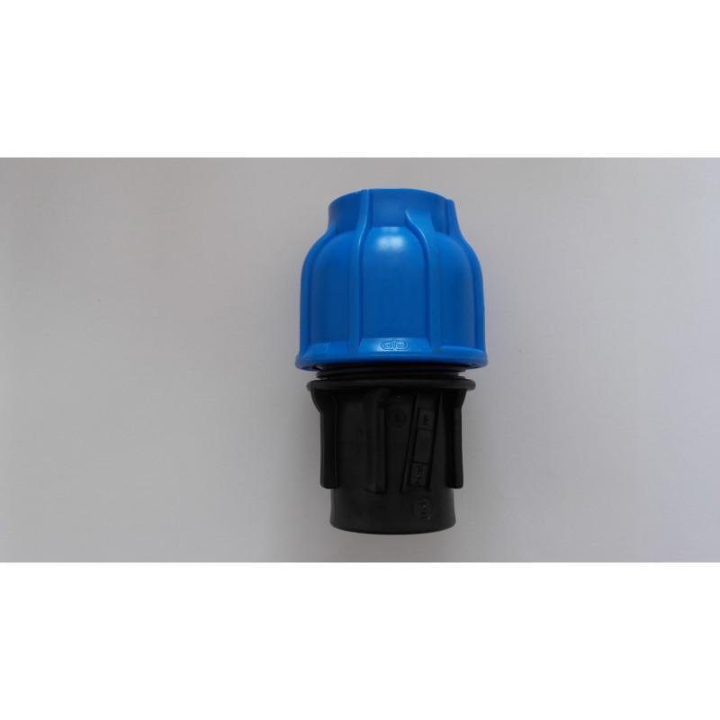 Raccord polypropylène 40*1'1/2 F