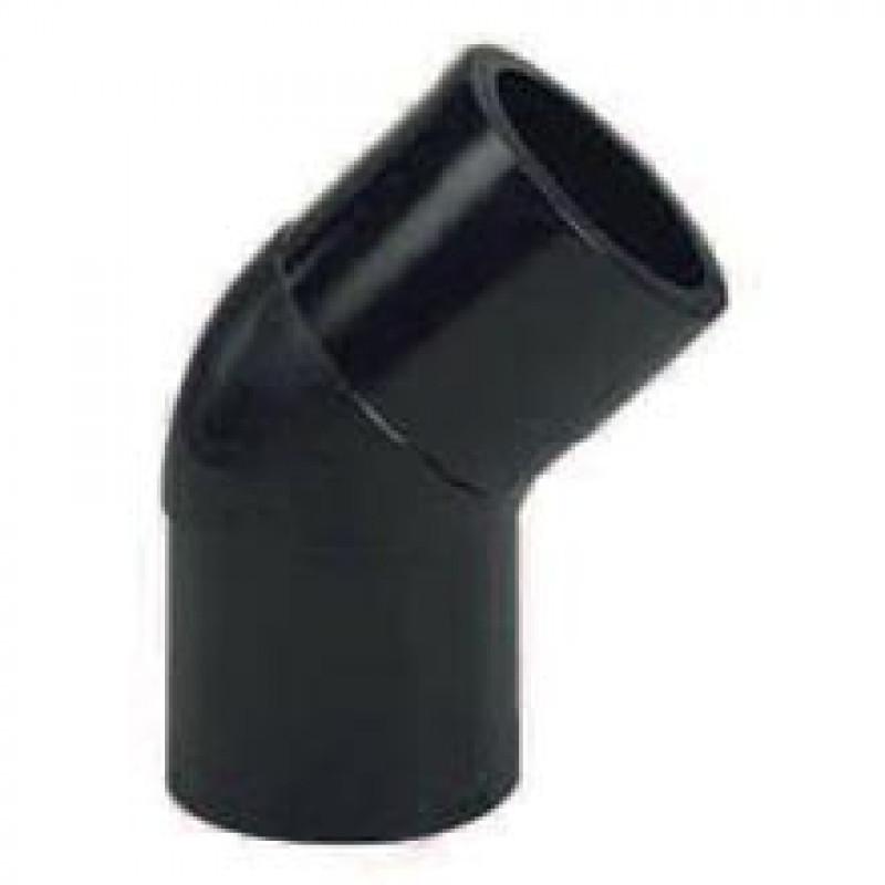 Coude PE M à souder 110 45° PN 16