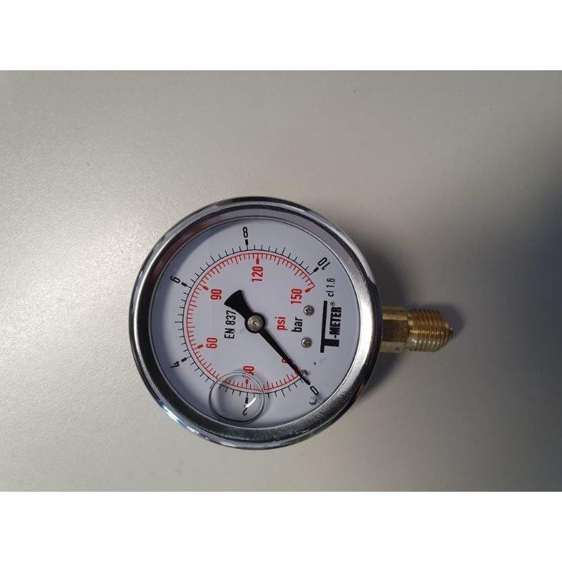 "Manomètre glycérine 0 à 10 B 1/4"" M D.63 inox"