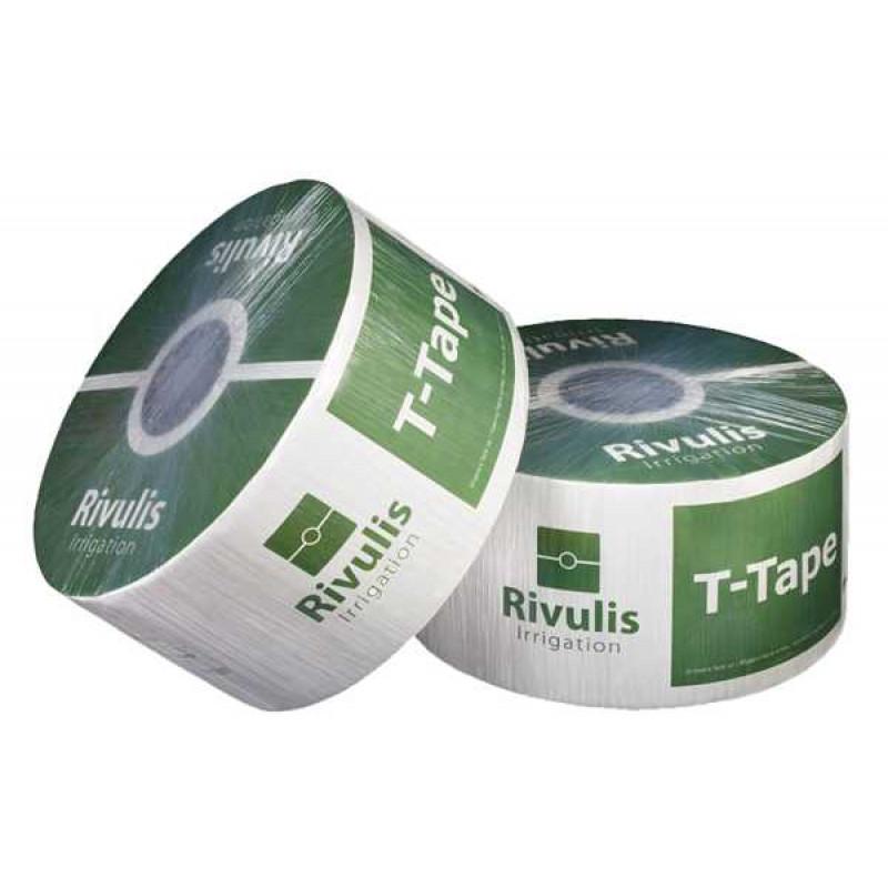 Gaine T Tape RIVULIS  0.30 0.75l/h par goutteur 200 microns diam 22 (Bobine de 1 695 M) dont 3.50 € d'écotaxe